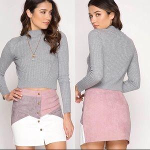 She + Sky Corduroy color block  mini skirt!